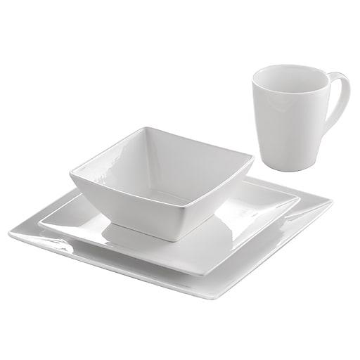 Roscher 32-Piece Pure Square Dinnerware Set - Luxurious & Practical ...