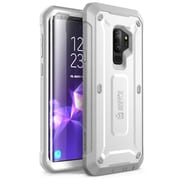 SUPCASE Galaxy S9 Case Full-body Rugged Holster Case and Screen Protector for 2018 Release, Unicorn Beetle PRO-White