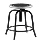 "National Public Seating 18-25"" Lab Stool, Black Steel (6810-021)"