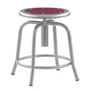 "National Public Seating 18-25"" Lab Stool, Burgundy Steel (6818-021)"