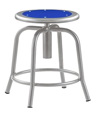 """National Public Seating 18-25"""" Lab Stool, Persian Blue Steel (6825-021)"""