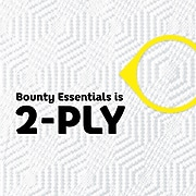 Bounty Essentials Select-A-Size Paper Towel, 2-Ply, White, 83 Sheets/Roll, 6 Big Rolls/Carton (74651)