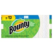 Bounty® Select-A-Size™ Paper Towels, 2-Ply, White, 83 Sheets/Roll, 8 Giant Rolls/Carton (74728)