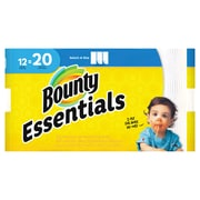 Bounty Essentials Select-A-Size™ Paper Towels, 2-Ply, White, 104 Sheets/Roll, 12 Mega Rolls/Pack (74647)