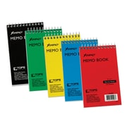 LUX 3 x 5 Memo Books - Narrow Rule 250/Pack, Assorted Colors (B3X5NR-ASST-250)