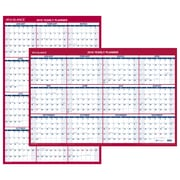 "AT-A-GLANCE® Vertical/Horizontal Erasable Wall Calendar, 12 Months, January Start, Reversible, 36"" x 24"" (PM26-28-19)"