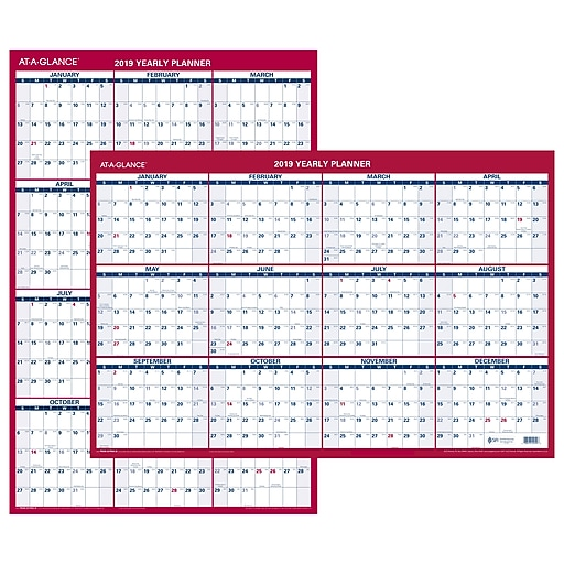 at a glance vertical horizontal erasable wall calendar 12 months