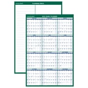 "AT-A-GLANCE® Vertical Erasable Wall Calendar, 12 Months, Reversible for Notes and Planning Space, 24"" x 36"" (PM210-28-19)"