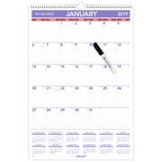 "AT-A-GLANCE® Erasable Monthly Wall Calendar, 12 Months, January Start, 15 1/2"" x 22 3/4"", Wirebound (PMLM03-28-19)"
