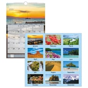 """AT-A-GLANCE® Scenic Wall Calendar, 12 Months, January Start, 12"""" x 17"""", White (DMW200-28-19)"""
