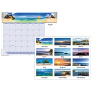 "AT-A-GLANCE® Images of the Sea Panoramic Desk Pad, 12 Months, January Start, 22"" x 17"" (DMD141-32-19)"