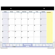"AT-A-GLANCE® QuickNotes® Monthly Desk Pad, 13 Months, January Start, 21 3/4"" x 17"" (SK700-00-19)"