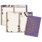 "Cambridge® Vienna Weekly/Monthly Planner, 12 Months, January Start, 4 7/8"" x 8"", Purple (122-200-19)"