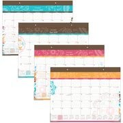 "AT-A-GLANCE® Suzani Monthly Desk Pad, 12 Months, January Start, 21 3/4"" x 17"" (SK17-704-19)"