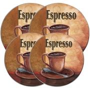 Range Kleen Round Burner Kovers, 4 pk (La Caffee Espresso) (5068)