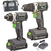 Genesis 20-Volt Cordless Li-Ion 2-Speed Drill/Impact Driver Combo Kit (GL20DIDKA2)