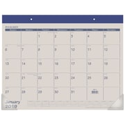 "2019 AT-A-GLANCE® Fashion Color Monthly Desk Pad, 12 Months, January Start, 21 3/4"" x 17"", Blue (SK25-17-19)"