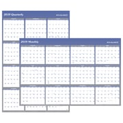 "2019 AT-A-GLANCE® Vertical/Horizontal Erasable Wall Planner, Reversible, 12 Months, January Start, 48"" x 32"", Blue (A1152-19)"