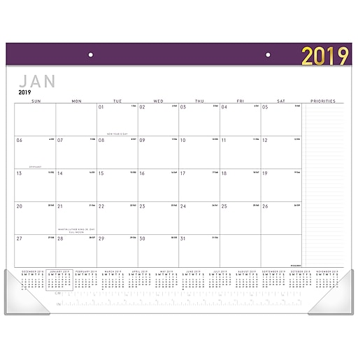 1dcc6c31652 2019 AT-A-GLANCE® Contemporary Monthly Desk Pad