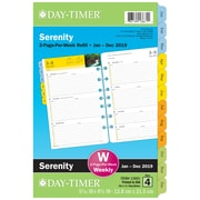 "2019 Day-Timer® Serenity Two Page Per Week Refill, 12 Months, January Start, Loose-Leaf, Desk Size, 5 1/2"" x 8 1/2"" (13691-1901)"