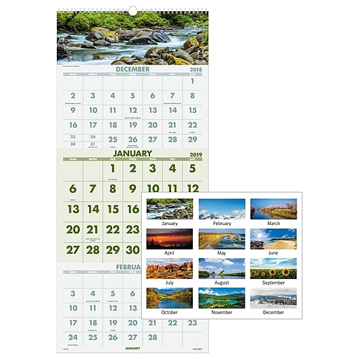 Shop Staples For 2019 AT-A-GLANCE® Scenic 3-Month Wall
