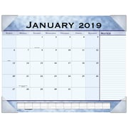 "2019 AT-A-GLANCE® Slate Blue Monthly Desk Pad, 12 Months, January Start,  21 3/4"" x 17"" (89701-19)"