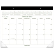 "2019 AT-A-GLANCE® Two Color Monthly Desk Pad, 12 Months, January Start, 21 3/4"" x 17"" (GG2500-00-19)"