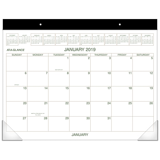 b1209609786 2019 AT-A-GLANCE® Two Color Monthly Desk Pad
