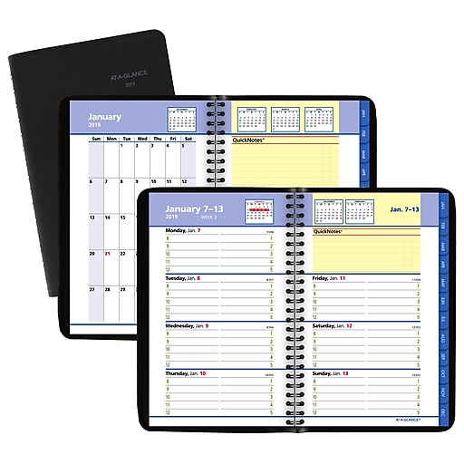 2019 at a glance quicknotes weekly monthly appt book planner