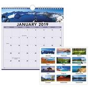 "2019 AT-A-GLANCE® Landscape Monthly Wall Calendar, 12 Months, January Start, 12"" x 12"", Wirebound (88200-19)"