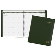 "2019 AT-A-GLANCE® Recycled Monthly Planner, 13 Months, January Start, 8 7/8"" x 11"", Green (70-260G-60-19)"