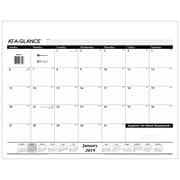 """2019 AT-A-GLANCE® Refillable Desk Pad Refill, 12 Months, January Start, 21 3/4"""" x 17"""", Black and White (SK22-50-19)"""