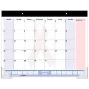 "2019 AT-A-GLANCE® QuickNotes® City of Hope Desk Pad, Pink Ribbon Design, 13 Months, Ruled Blocks, 21 3/4"" x 17"" (SKPN70-00-19)"
