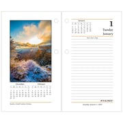 """2019 AT-A-GLANCE® Daily Photographic Loose-Leaf Desk Calendar Refill, 12 Months, January Start, 3 1/2"""" x 6"""" (E417-50-19)"""