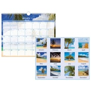 "2019 AT-A-GLANCE® Tropical Escape Wall Calendar, 12 Months, January Start, 15"" x 12"", Wirebound (DMWTE8-28-19)"