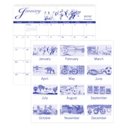 """2019 AT-A-GLANCE® Illustrator's Edition Monthly Wall Calendar, 12 Months, January Start, 12"""" x 11 3/4"""" (G1000-17-19)"""