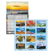 "2019 AT-A-GLANCE® Scenic Wall Calendar, 12 Months, January Start, 15 1/2"" x 22 3/4"", Multicolor (DMW201-28-19)"