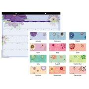 "2019 AT-A-GLANCE® Monthly Paper Flowers Desk Pad, 12 Months, January – December, 21 3/4"" x 17"" (5035-19)"