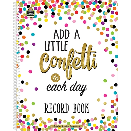 """Teacher Created Resources Confetti Record Book, 64 Pages, 8.5"""" x 11"""" (TCR3570)"""