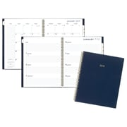 """2019 Cambridge® Color Bar Weekly/Monthly Planner, 12 Months, January Start, 8 1/2"""" x 11"""", Navy (1078-905-58-19)"""