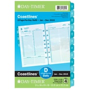 "2019 Day-Timer® Coastlines Two-Page Per Day Refill, 12 Month, January Start, Loose-Leaf, Desk Size, 5 1/2"" x 8 1/2"" (13180-1901)"