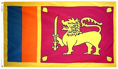Annin Flagmakers Sri Lanka Flag, 4 x 6 ft., Nylon (191483)