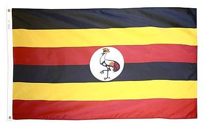Annin Flagmakers Uganda Flag, 3 x 5 ft., Nylon (198680)