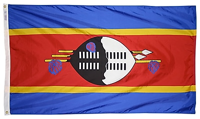 Annin Flagmakers Swaziland Flag, 3 x 5 ft., Nylon (197914)