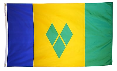Annin Flagmakers St. Vincent/Grenadines Flag, 4 x 6 ft., Nylon (197300)