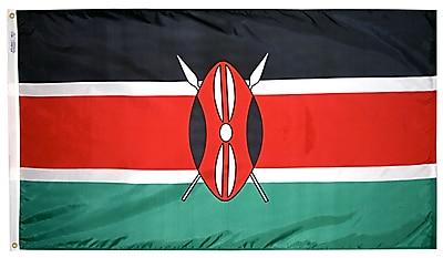 Annin Flagmakers Kenya Flag, 3 x 5 ft., Nylon (194449)