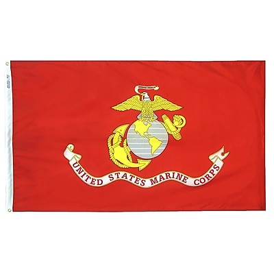 Annin Flagmakers U.S. Marine Corps Military Flag, 3 x 5 ft., Nylon (439005)