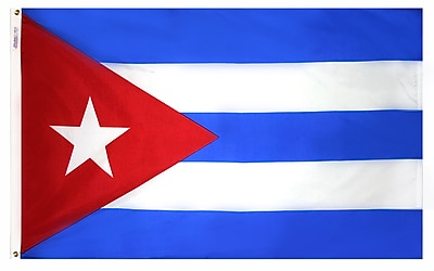 Annin Flagmakers Cuba Flag, 3 x 5 ft., Nylon (191904)