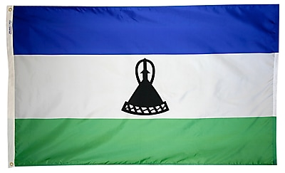 Annin Flagmakers Lesotho Flag, 3 x 5 ft., Nylon (194804)