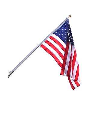 Annin Flagmakers American Flag, and Outrigger Flagpole (3621)